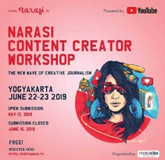 """NARASI CONTENT CREATIVE WORKSHOP """"THE NEW WAVE OF CREATIVE JOURNALISM"""""""